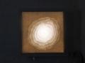 Fra Lyshulen I, 2019,Silkepapir, kinapapir og kalke på LED lampe,30 x 30 cm